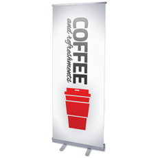 Pin Stripe Coffee Banner