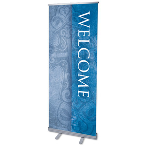 "Cross Welcome 2'7"" x 6'7""  Vinyl Banner"