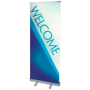 "Color Rays Welcome 2'7"" x 6'7""  Vinyl Banner"