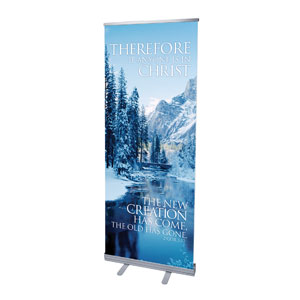 "Reflections New Creation 2'7"" x 6'7""  Vinyl Banner"