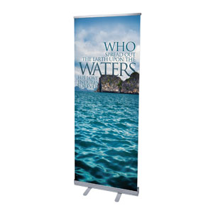"Reflections Waters 2'7"" x 6'7""  Vinyl Banner"