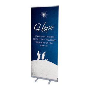"Advent Hope 2'7"" x 6'7""  Vinyl Banner"
