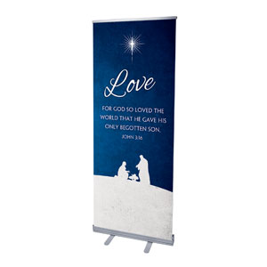 "Advent Love 2'7"" x 6'7""  Vinyl Banner"