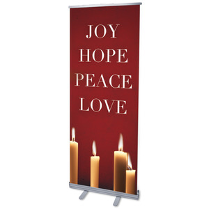 "Advent Red 2'7"" x 6'7""  Vinyl Banner"