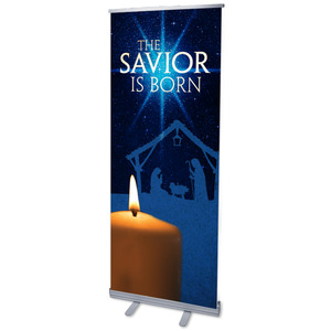 "Christmas Icons 2'7"" x 6'7""  Vinyl Banner"