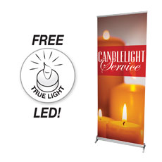 Four Candles Banner