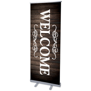 "Rustic Charm Welcome 2'7"" x 6'7""  Vinyl Banner"