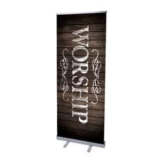 Rustic Charm Worship Banner