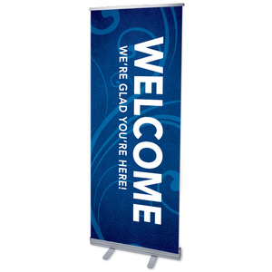 "Flourish Welcome 2'7"" x 6'7""  Vinyl Banner"