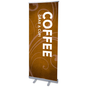 "Flourish Coffee 2'7"" x 6'7""  Vinyl Banner"
