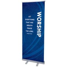 Flourish Worship Blue Banner