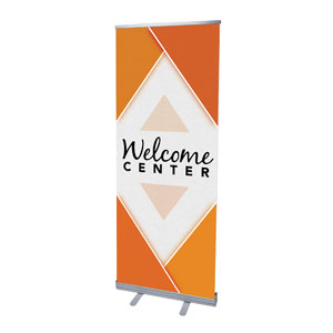 "Welcome Diamond Orange 2'7"" x 6'7""  Vinyl Banner"