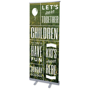 "Phrases Children 2'7"" x 6'7""  Vinyl Banner"