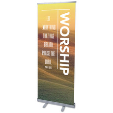 Phrases Worship Vertical Banner