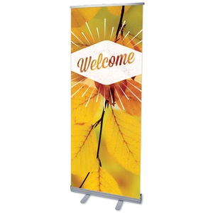 "Welcome Burst 2'7"" x 6'7""  Vinyl Banner"