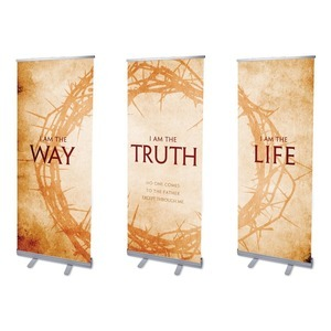 "I AM The Way  2'7"" x 6'7""  Vinyl Banner"