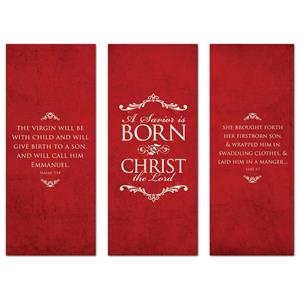 "Savior Is Born  2'7"" x 6'7""  Vinyl Banner"