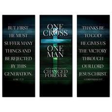 One Cross Triptych Banner