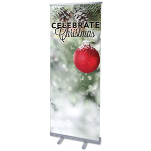 "Red Logo Ball 2'7"" x 6'7""  Vinyl Banner"