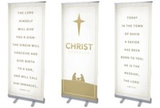 Christ Revealed Triptych Banner