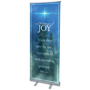 "Christmas of Joy 2'7"" x 6'7""  Vinyl Banner"