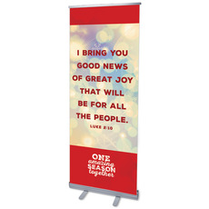 One Amazing Season Luke 2:10 Banner