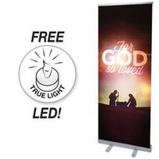 For God So Loved Nativity Banner