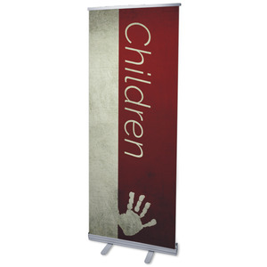 "Color Block Children 2'7"" x 6'7""  Vinyl Banner"