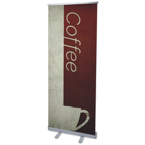 "Color Block Coffee 2'7"" x 6'7""  Vinyl Banner"
