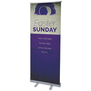 "Color Block Easter 2'7"" x 6'7""  Vinyl Banner"