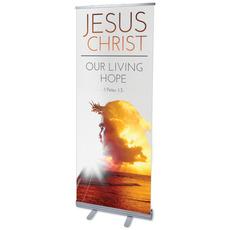 Jesus Christ Living Hope Banner