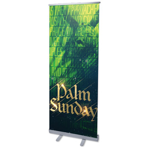 "Palm Sunday Green Donkey 2'7"" x 6'7""  Vinyl Banner"