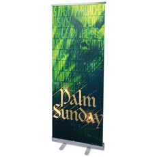 Palm Sunday Green Donkey Banner