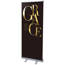 Gold Letters Grace Banner
