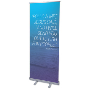 "Color Wash Matt 4:19 2'7"" x 6'7""  Vinyl Banner"