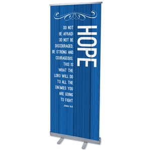 Painted Wood Hope Banners