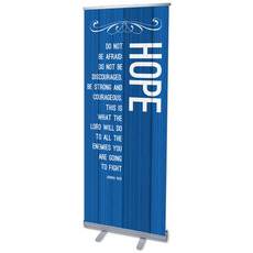 Painted Wood Hope Banner
