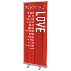 Painted Wood Love Banner