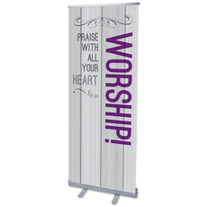 Painted Wood Worship Banner