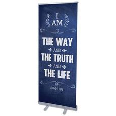 Chalkboard Art Blue Banner