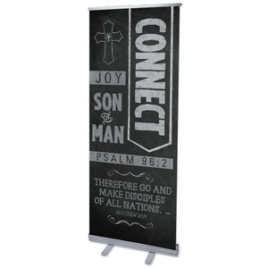"Chalkboard Art Connect 2'7"" x 6'7""  Vinyl Banner"