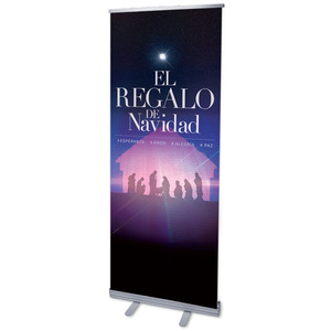 "The Gifts of Christmas Advent Spanish 2'7"" x 6'7""  Vinyl Banner"