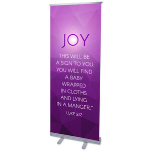 "Advent Luke 2 Joy 2'7"" x 6'7""  Vinyl Banner"