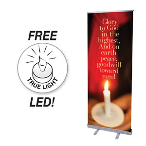 Glory to God Candle Banners