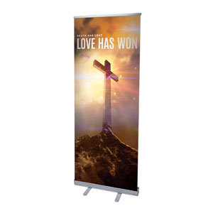 "Love Has Won 2'7"" x 6'7""  Vinyl Banner"