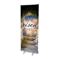 Risen Open Tomb Banner