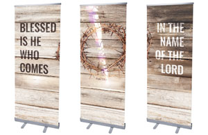 "Blessed Is He 2'7"" x 6'7""  Vinyl Banner"
