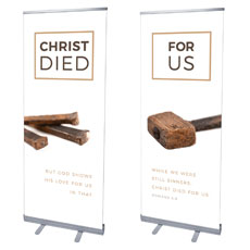 Died For Us Rom 5:8 Banner
