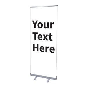 "Your Text Here Black 2'7"" x 6'7""  Vinyl Banner"