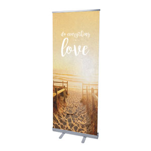 "Photo Scriptures 1 Cor 16:14 2'7"" x 6'7""  Vinyl Banner"